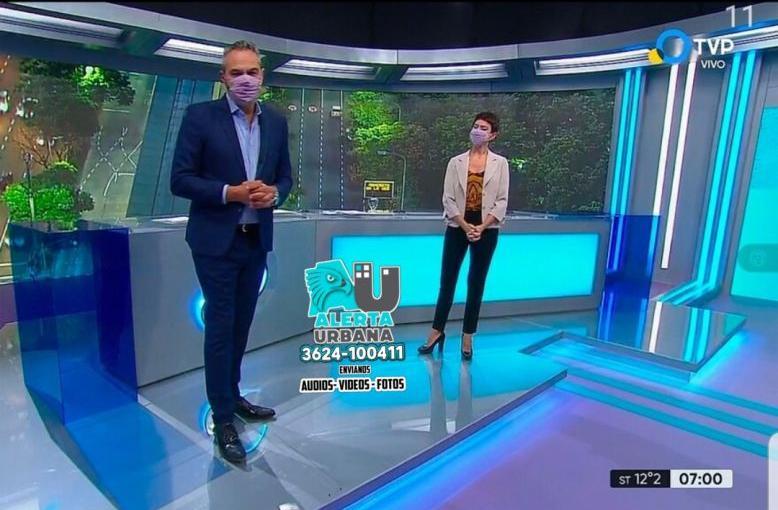 TV Pública: comenzaron usar tapabocas al aire para prevenir contagios