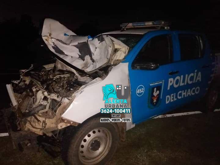 Villa Berthet: patrullero accidentado