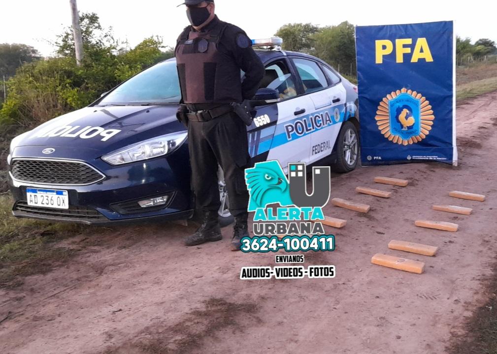 Colonia Aborigen: 10 kilos de drogas secuestrada por la Policía Federal Argentina