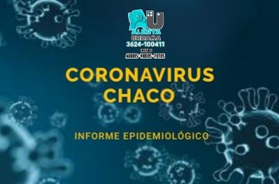 En la provincia del Chaco 2.341 casos activos de COVID-19