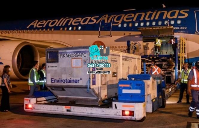 Otras 384 mil dosis de vacunas llegaron a la Argentina