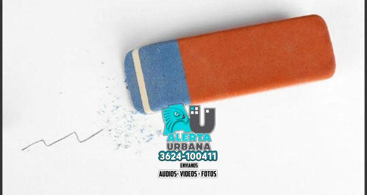 ¿Para qué sirve la parte azul de la goma de borrar?