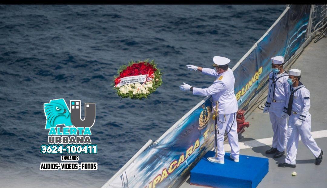 Indonesia intentará reflotar el submarino que se hundió en el oceáno Índico
