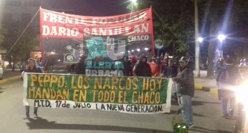 Dario Santillán y el MTD 17 de Julio marcharon contra el avance de las drogas en la provincia