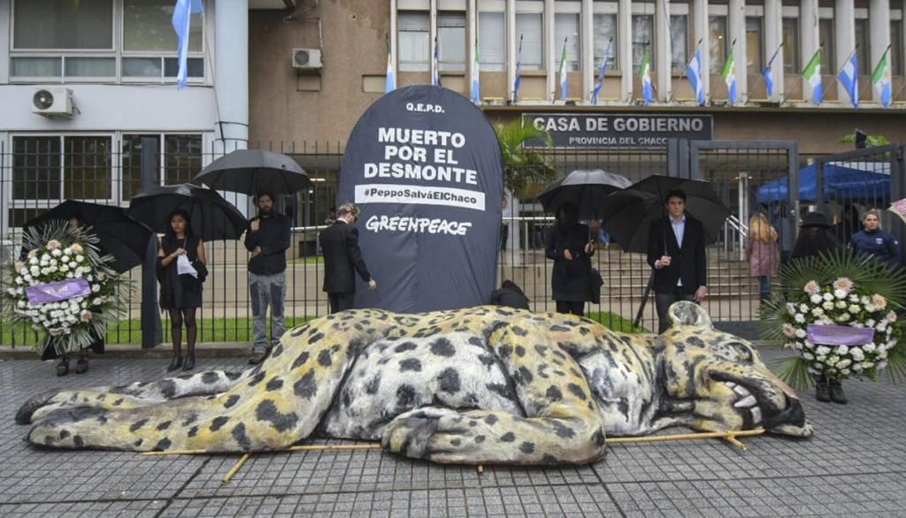 Protesta contra los desmontes en Chaco