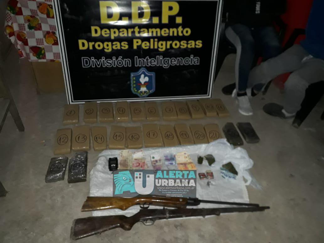 Secuestran más de 19 kilos de marihuana