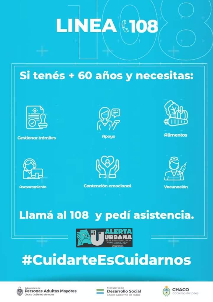 La Línea 108 atiende a adultos mayores que requieren cuidados durante la pandemia.