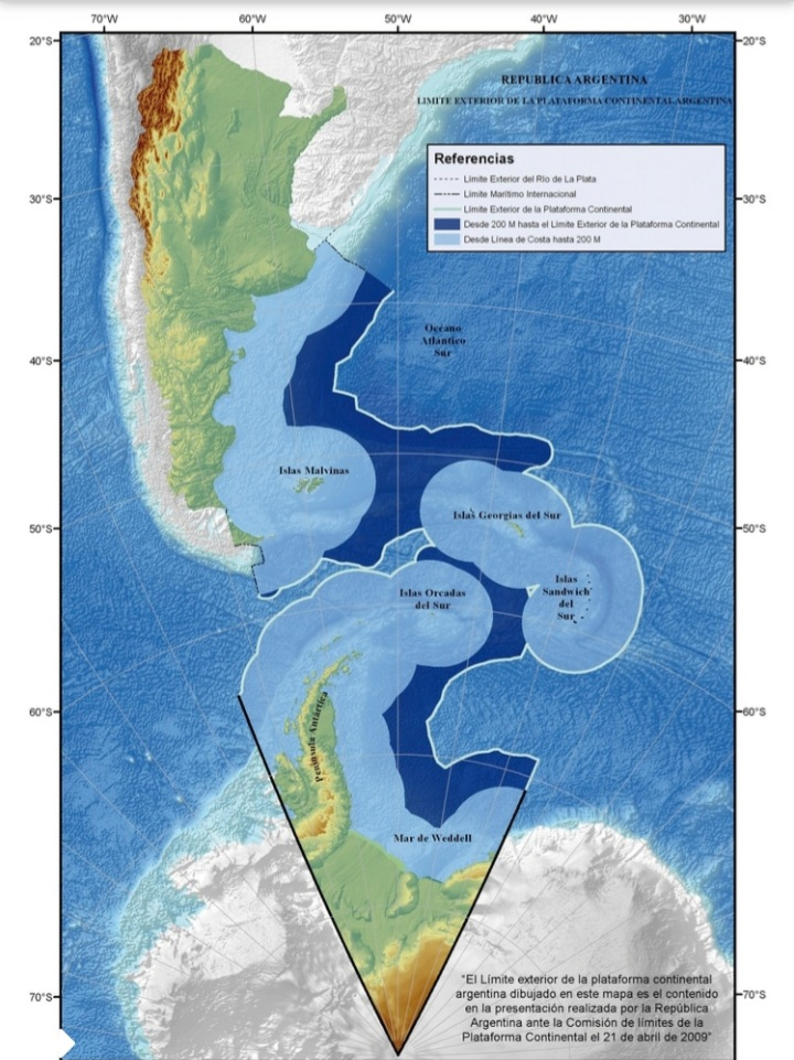 Chile reclamó a la Argentina por el mapa de la plataforma continental.