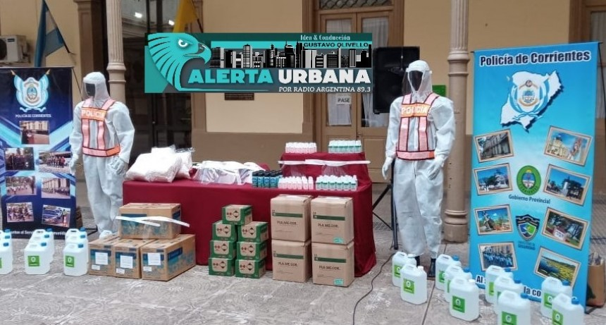 El Ministerio de Salud de Corrientes entregó elementos de bioseguridad a la policía provincial