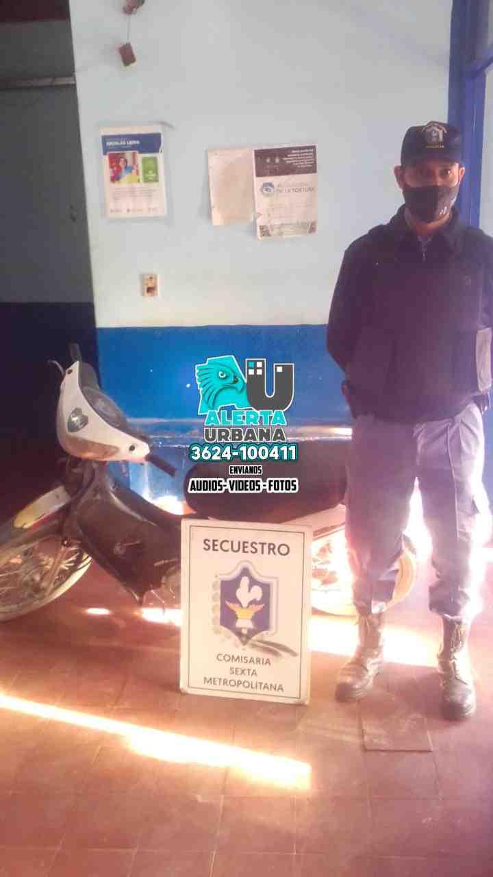 Detenidos por supuesto robo de una motocicleta