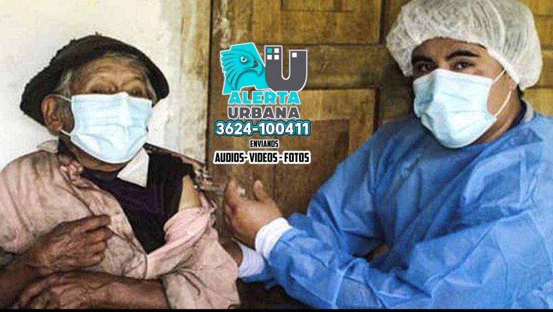 Tiene 121 años y fue vacunado contra el coronavirus en su casa de la selva central