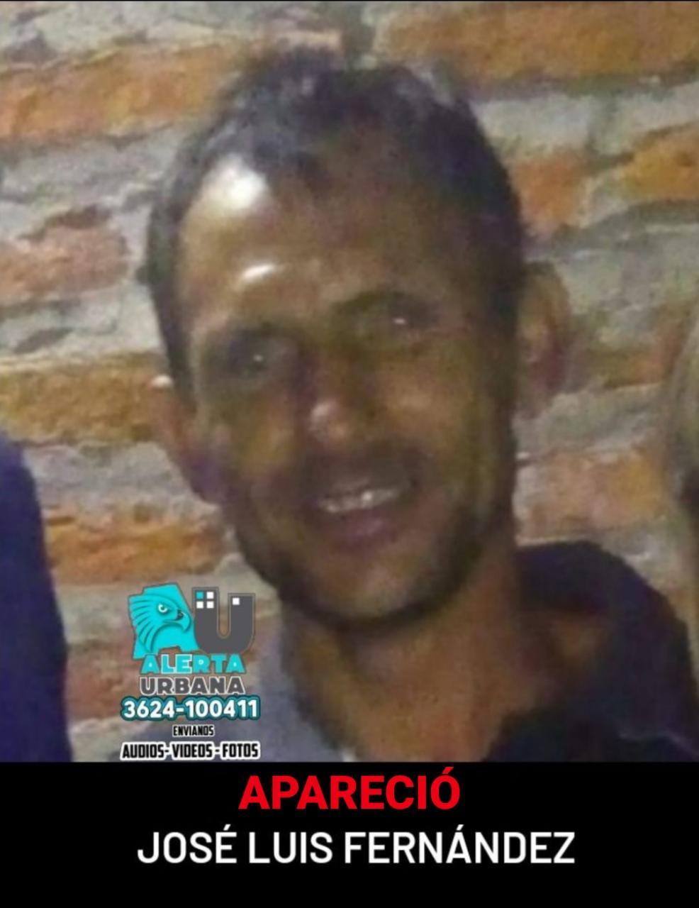 Apareció el ciudadano José Luis Fernández