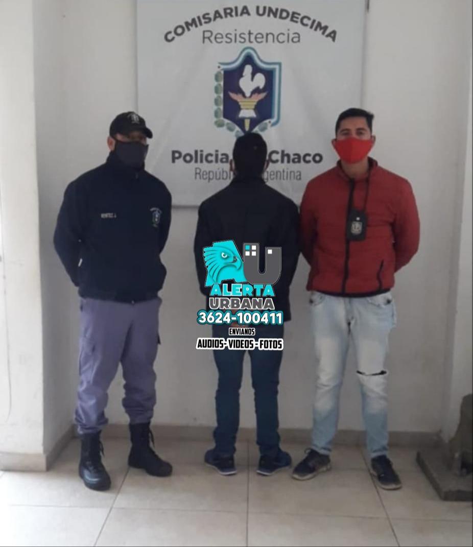 Resistencia: violento detenido