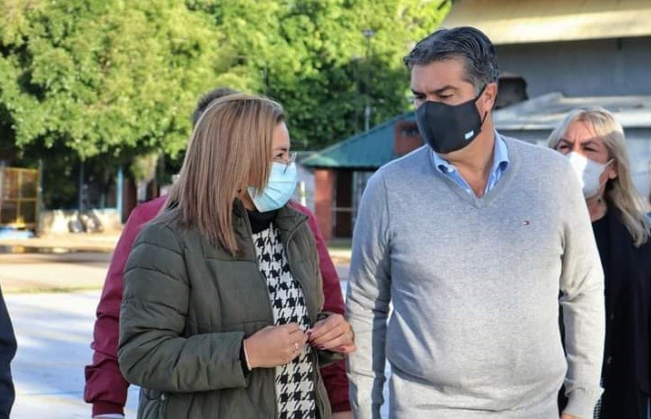 Magda Ayala recorrió junto al gobernador históricas obras en Barranqueras