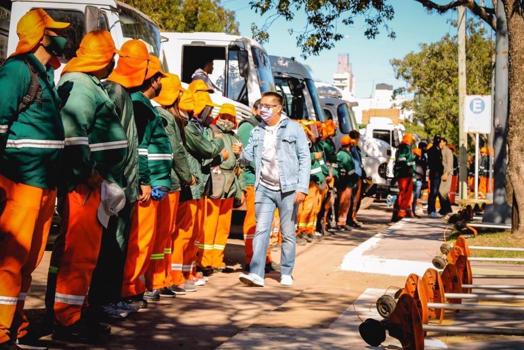 La Municipalidad presentó la logística y el equipamiento para ejecutar el Plan de Saneamiento