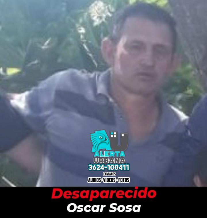 Se intenta dar con el paradero del señor Oscar Sosa