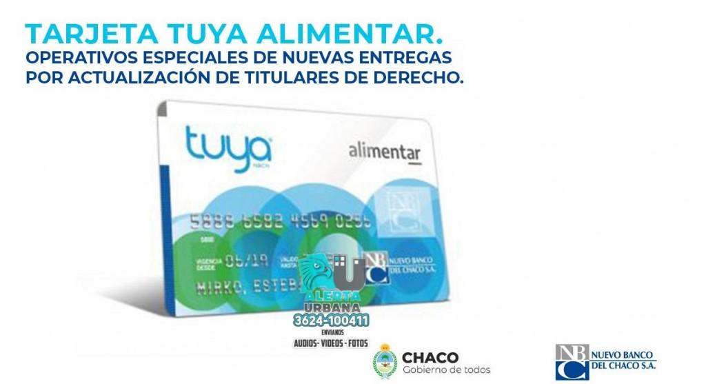 Este lunes comienza la entrega de 8.024 tarjetas Tuya Alimentar
