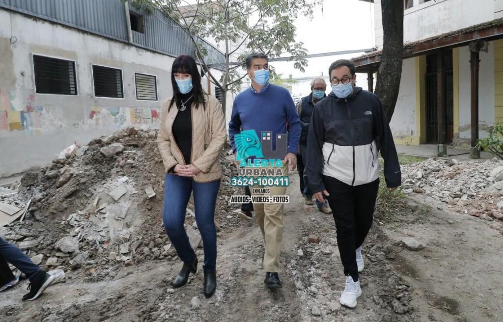 El Gobernador recorrió diversas áreas en refacción del hospital Perrando