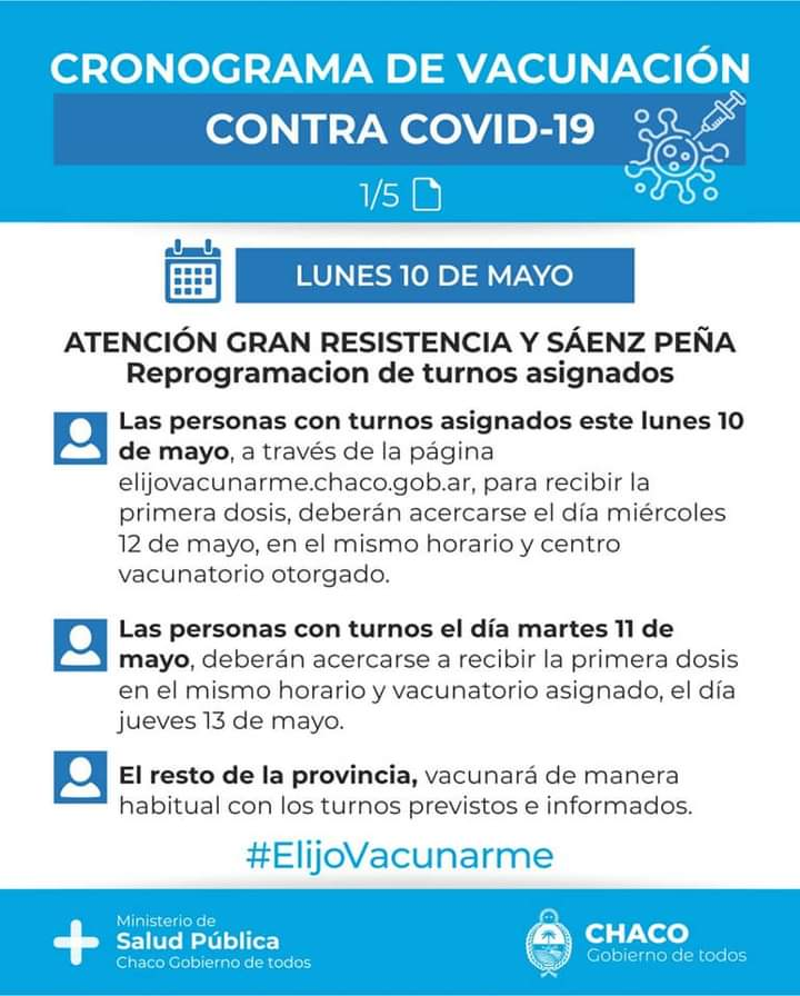 Cronograma de vacunación contra el COVID-19