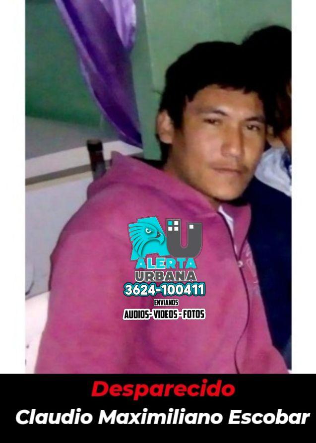 Se busca el paradero de Claudio Maximiliano Escobar