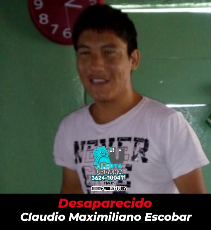 Continúan buscando a Claudio Maximiliano Escobar