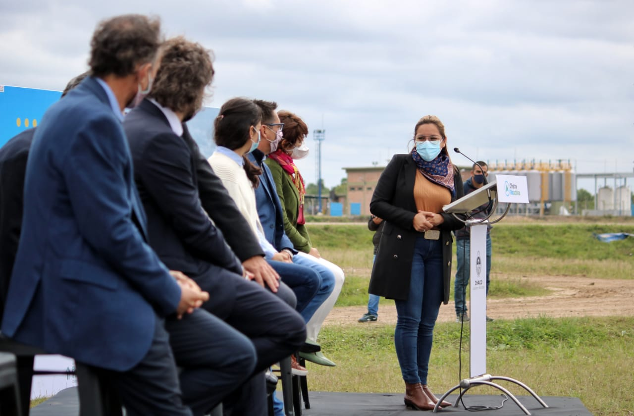 Magda Ayala participó de la inauguración de la Planta de Tratamiento de Residuos Cloacales con autoridades nacionales