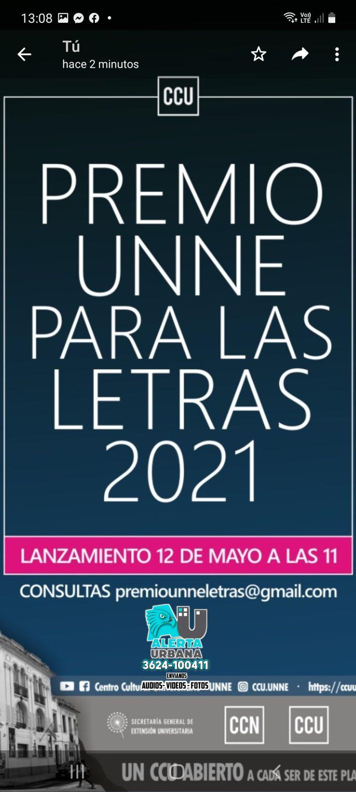 Lanzamiento Premio UNNE para las letras 2021