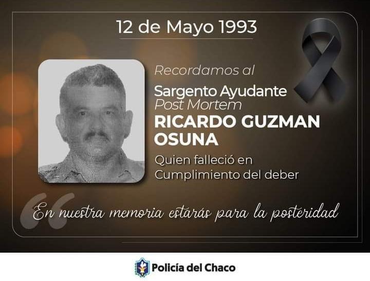 Sargent 1° Guzmán Osuna: héroe policial, que dio su vida en cumplimiento del deber