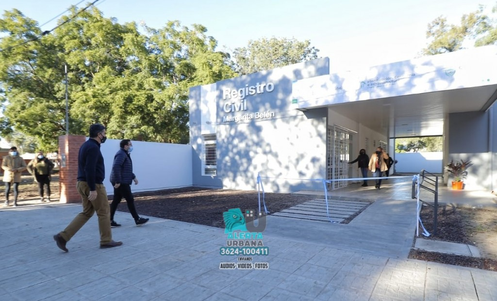 Inauguración del Registro Civil en Margarita Belén.
