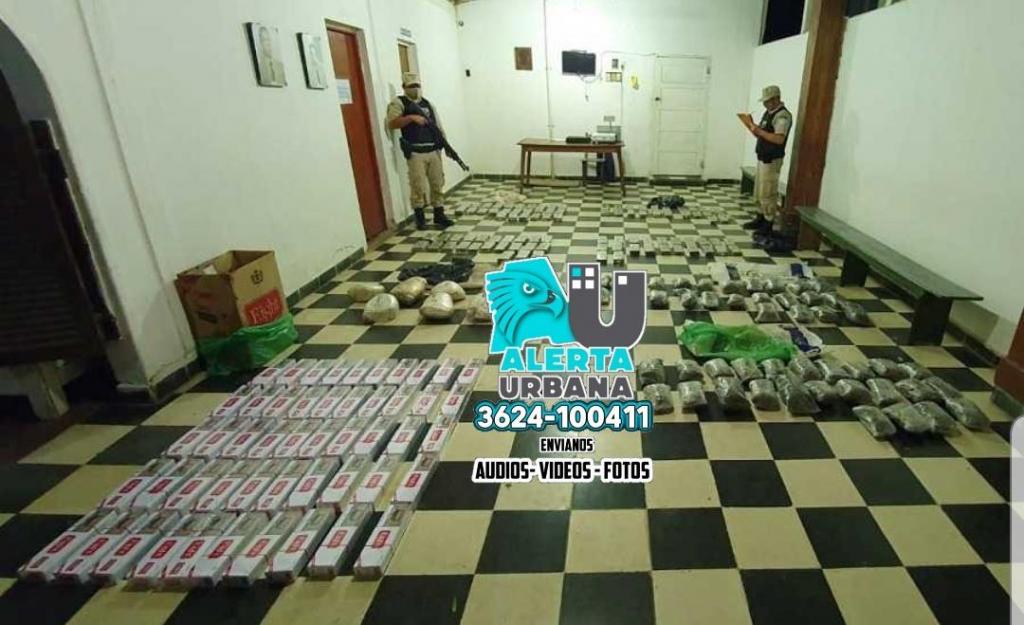Prefectura secuestró casi 365 kilos de marihuana en Chaco y Corrientes
