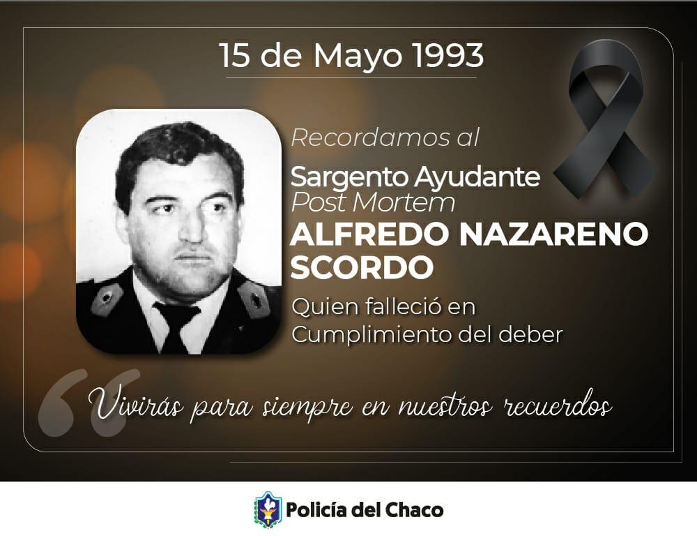 Recordamos a un héroe de la Policía del  Chaco
