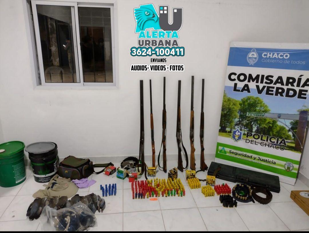 Caza ilegal: secuestran 9 aves y 7 armas de fuego