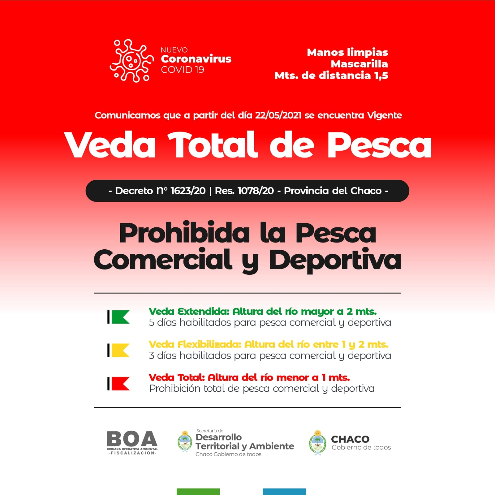 Chaco: veda total