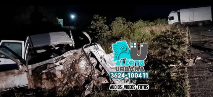 Una víctima fatal dejó la colisión entre un camión y un automóvil en Tres Isletas