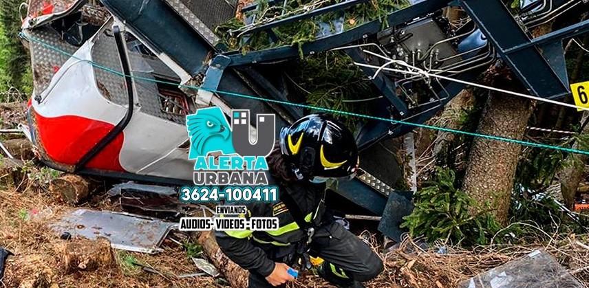 Catorce muertos y un niño grave al caer un teleférico en Italia