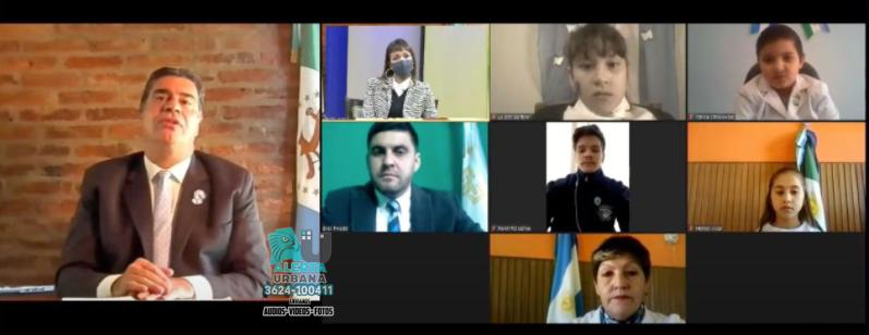 Capitanich celebró el aniversario de la Patria en General Pinedo con un acto virtual