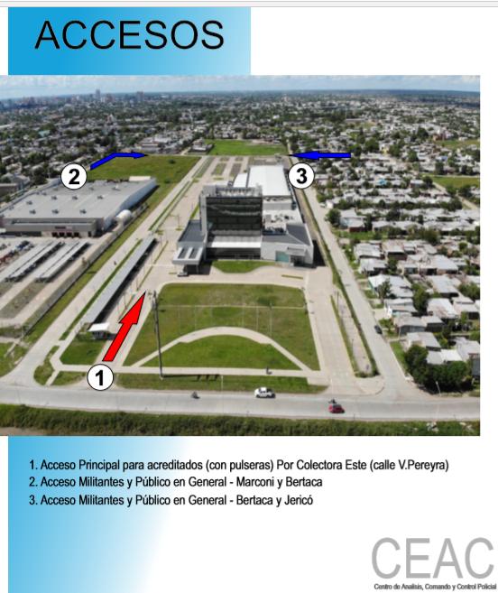 Como será despliegue de seguridad y accesos durante la visita de la senadora Cristina Fernández