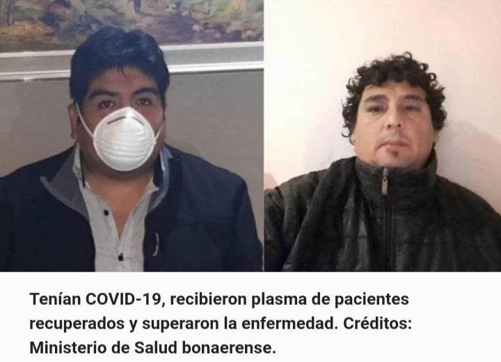 Tenían COVID-19, recibieron plasma de pacientes recuperados y superaron la enfermedad.