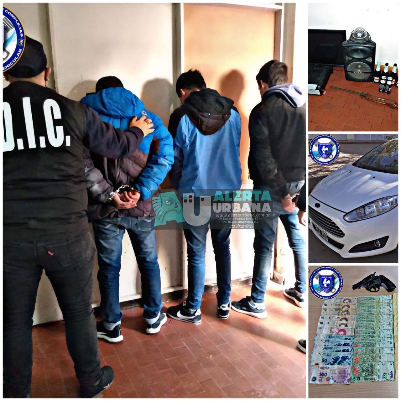 Detuvieron a tres personas, secuestraron un auto y dinero en efectivo.