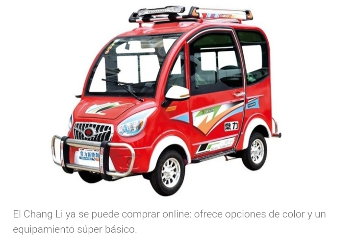 El auto eléctrico más barato del mundo cuesta como una bicicleta y se compra por Internet