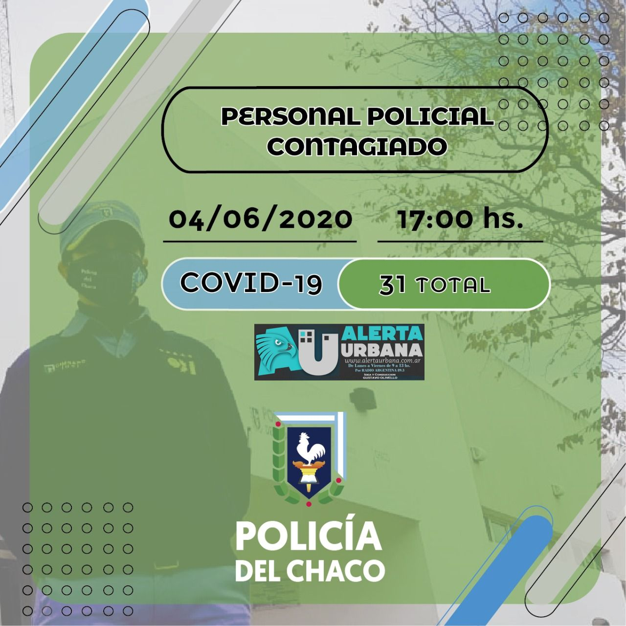 Informe oficial situación epidemiológica en la Policía del Chaco.