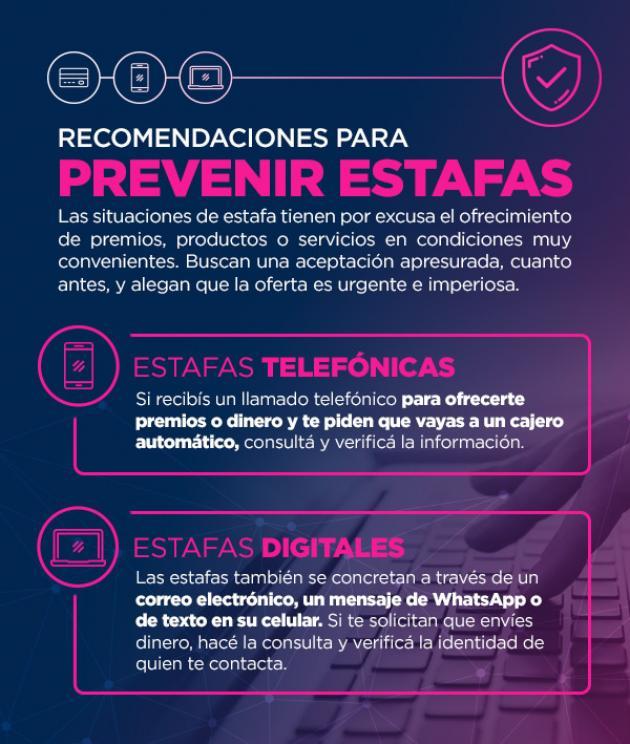 El Nuevo Banco del Chaco brindó recomendaciones para prevenir estafas.