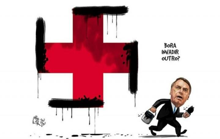 El Gobierno de Brasil denunció al dibujante y a un periodista que compartió la caricatura