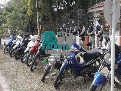 Secuestron varias motocicleta por no contar con el permiso de circulación.
