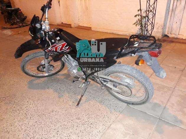 Encontraron una moto XTZ abandonada.