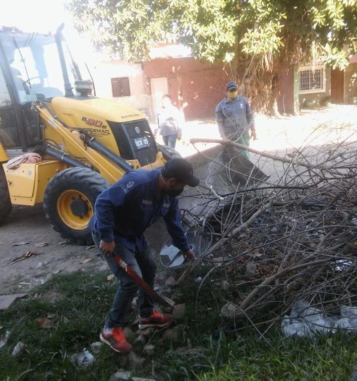 La ciudad de Resistencia realizó tareas de limpieza en la zona sur