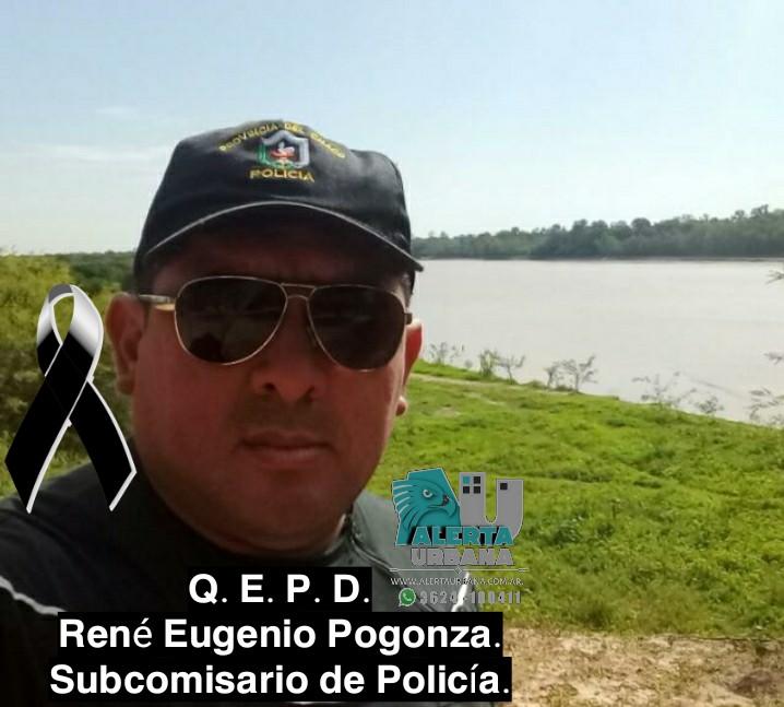 Murió el subcomisario René Eugenio Pogonza.
