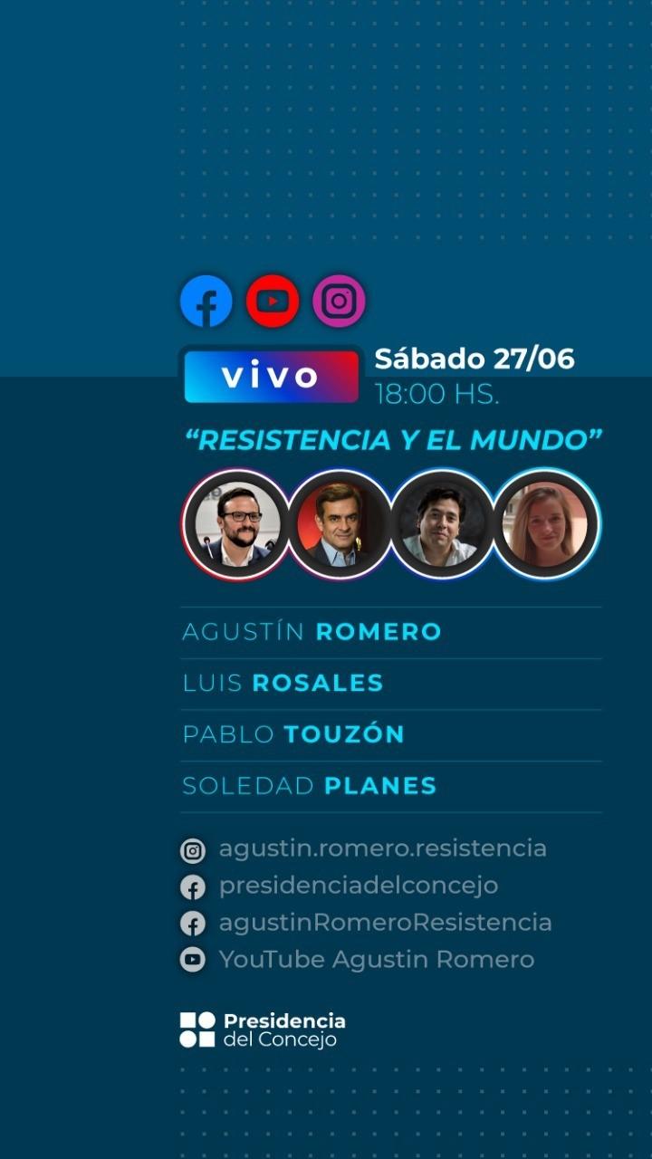 Agustín Romero en Conversatorio Online: Resistencia y el mundo