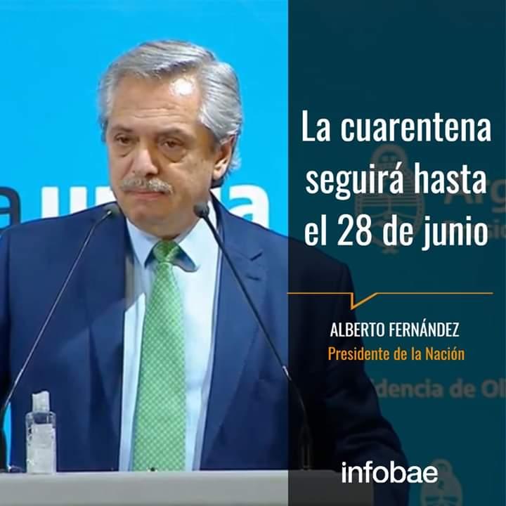 El presidente Alberto Fernández anunció la extensión de la cuarentena por tres semanas.