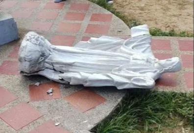 Murió una nena de 5 años al intentar abrazar una estatua del Sagrado Corazón